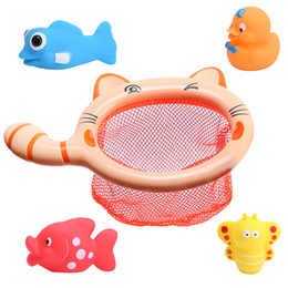 Wholesale Wholesale Dog Items - Fishing Toys Network Bag Pick up Duck & Bee & Fish Kids Toy Swimming Classes Summer Play Water Bath Toy