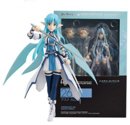 Wholesale sword art online pvc - Anime Sword Art Online Figma 264 Yuuki Asuna Undine Special PVC Action Figure Collectible Model Toy 15cm