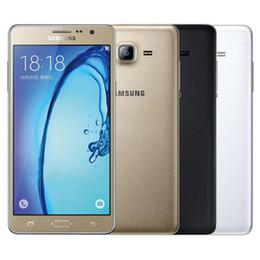 Teléfono celular original 4g online-Reacondicionado Original Samsung Galaxy On7 G6000 Dual SIM 5.5 pulgadas Quad Core 1.5GB RAM 8GB / 16GB ROM 13MP 4G LTE Teléfono celular móvil DHL gratis 1pcs