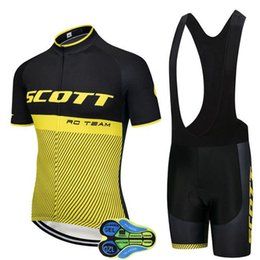 Wholesale Clothes Mtb - Ropa ciclismo 2018 SCOTT yellow blackcycling jersey Short sleeve summer Bicicleta clothing MTB maillot Ciclismo hombre can be mixed size