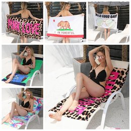 Wholesale Camping Chair Wholesale - 5 Styles 145*70cm Soft Leopard Beach Towel Outdoor Sports Swimming Camping Bath Yoga Mat Blanket Bath Towel Beach Chair Cover CCA9627 10pcs