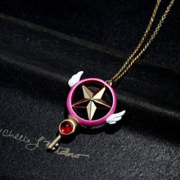 2019 colar de pingente sakura Card Captor Sakura Pendant Necklace em caixa de presente colar de pingente sakura barato