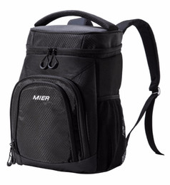 Wholesale Lunch Bag Backpack - MIER Insulated Cooler Backpack Leakproof Soft Cooler Bag for Lunch, Picnic, Road Trip, Beach, Park, 24Can Outdoor Bag