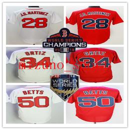 2019 camisola de basebol de flanela Mens BRS qualidade confiável 2018 WS Campeões Patch 2 Xander Bogaerts 16 Andrew Benintendi 34 # 41 Chris Venda 50 Mookie Betts Baseball Jerseys