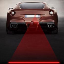 Luz laser de la cola del coche online-Car styling Anticolisión Trasero Coche cola láser 12 v led luz de niebla Auto luz de estacionamiento luz de advertencia para Volkswagen para BMW E46