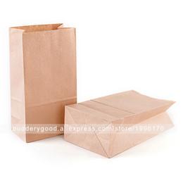 Carta sandwich all'ingrosso online-Sacchetti di carta di Kraft del Brown delle borse del pranzo delle borse di carta di Brown 100pcs