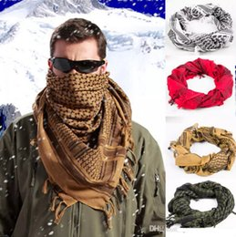 Wholesale Men Shemagh - Hot Sale 100% Cotton Thick Muslim Hijab Shemagh Tactical Desert Arabic Scarf Arab Scarves Men Winter Military Windproof Scarf