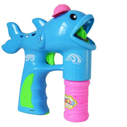 toys electric gun Promo Codes - dolphin electric bubble gun automatic bubble machine light music toy