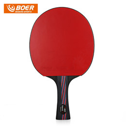 Wholesale Carbon Table Tennis - BOER Lightweight Table Tennis Ping Pong Racket Paddle Long handle short handle Table Tennis Rackets Ping Pong Paddle Table Tennis Racket Set