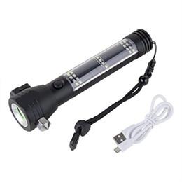 Lanterna do carro Lanterna Solar USB Recarregável Tocha Multi-funcional LEVOU Luz com Car Ferramenta De Emergência para Camping Caminhadas Segurança de Caminhada de Fornecedores de bateria impermeável à prova de fogo