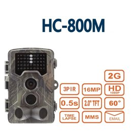 Wholesale Hunting Wildlife Camera - Newest Thermal Deer Hunting Camera HC800M with mms scout guard wildcamera for home security hidden wildlife digital traps camera
