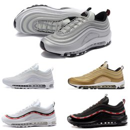 Wholesale shoes 97 - Men's Shoes 97 Cushion Breathable Casual Shoes Cheap Massage Running white Flat Sneakers Man 97 Sports Outdoor Shoes Size 40-45
