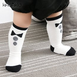 2b1d26a0ed Autumn Winter Cotton Newborn Baby Socks Cute Bowtie Toddler Infant Socks  Anti Slip Knee High Baby Girl Boy Socks Leg Warmer 0-4T