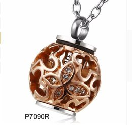 Wholesale red heart lanterns - Jewelry stainless steel customized hollow lantern cremated ashes urn pendant to commemorate lover pet bone hair funeral necklace