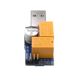 Wholesale Desktop Gaming - Newest USB WatchDog Card Double Relay 24H Blue Screen Unattended Automatic Restart For PC Computer Gaming Mining Miner 1PC LOT