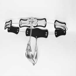 Wholesale Steel Chastity Belts For Females - Adjustable Size Stainless Steel Female Chastity Belt, T-type Chastity lock, Chastity Device for Women, Adult Game, Sex Toy S085