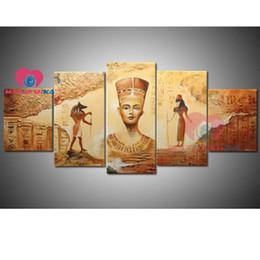 Pintura de egipto online-Egipto bordado de diamantes diamantes tríptico pintura de paisaje lleno del taladro de la imagen cuadrada de diamantes de imitación cuadros de la decoración de mosaico