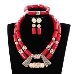 Yeni gelen! Afrika mercan boncuk takı seti kırmızı afrika düğün mercan boncuk takı seti Ücretsiz Kargo JB073 cheap african wedding coral beads jewelry set nereden afrika nikahlı boncuk takı seti tedarikçiler