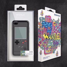 Wholesale Play Console Games - 1pcs Gameboy Tetris Phone Cases Play Game Console Cover TPU Shockproof Protection Case For Iphone 6 6s 7 8 Plus Retail package