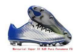 Nuevos zapatos de fútbol para hombre Mercurial Vapor XI FG Botas de fútbol  Hypervenom Phantom III GX Zapatos de fútbol al aire libre Mercurial  Superfly ... 78fce5819a459