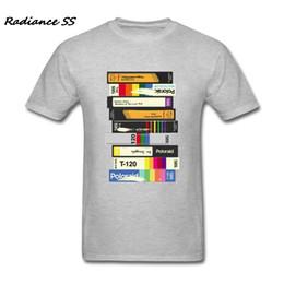 2019 erwachsene grafiken Grafik T-Shirt Männer Video Tape 80er Stil Tshirt Musik Customized Kurzarm T Shirts Erwachsene Tops günstig erwachsene grafiken