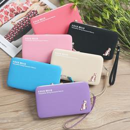 Rosa wallet koreanisch online-Koreanische Version der multifunktionalen langen Damen Brieftasche rosa süße Brieftasche