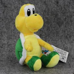 Tartarughe giocattolo morbido online-16 cm carino Green Turtle Plush Doll Toy Hot Super Mario Bros Gioco Tortoise farcito Kawaii morbido animale bambola giocattolo per i regali di Natale