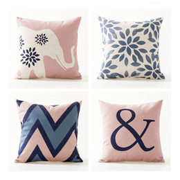 Wholesale Gold Car Seat Covers - Nordic Design Cushion Cover Pink Blue Geometric Throw Pillowcase 45cmX45cm Color Decoration Home Office Car Bed Seat Pillow Case