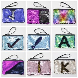 Wholesale Party Sequins Glitter Handbag - Mermaid Sequins Purses Cosmetic Bags Girls Glitter Makeup Bags Envelope Handbag Fashion Party Clutch Banquet Bags Travel Pouch Wallet B3926