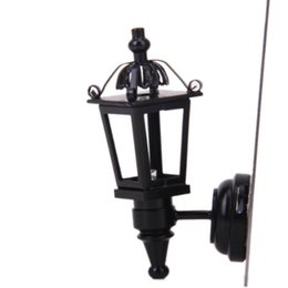 Wholesale Dollhouse Miniature Led Lights - CNIM Hot Black Metal 1  12 Dollhouse Miniature LED Wall Light Model