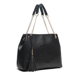 Wholesale American Halloween Decorations - High quality women's tassel chain Tote handbag large capacity fashion single shoulder bag decoration messenger bag
