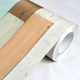 Wholesale Wood Grain Vinyl - 0.5m*10m Vintage wood grain wall stickers self adhesive vinyl wallpaper rolls decorative film