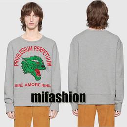 Wholesale women leopard print hoodie - 2018 Brand Fashion Luxury Designer Winter Europe Italy Leopard Amore Fashion Men Clothes O-neck Pullover Sweatshirt Women Hoodies Jumpers