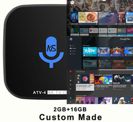 Wholesale Iptv Box Channels - 10pcs Custom Made ATV-4 S912 Octacore 4K Voice Control Android7.1 TV OS KD17.6 box Leanback 1500+ IPTV channel Millions of movies & TV shows