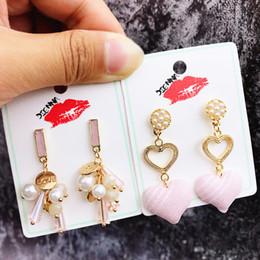 Fiori rossi coreani online-Orecchini coreano femminilità piccolo incenso netto orecchini rossi lunghi orecchini di fiori di cristallo arco nappa gioielli orecchio