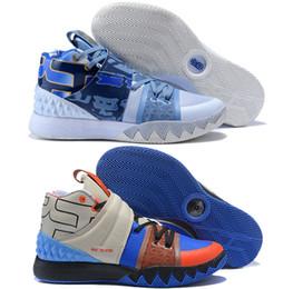 hot sales 0c9ce dc009 Con la scatola Kyrie Irving S1 Hybrid What The Kyrie PE S1Hybrid 3  Multicolor Blue Grey Black Mens Scarpe da basket Uomo Uomo Sport Sneakers  7-12 kyrie ...