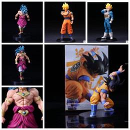 Wholesale Action Figure Design - Dragon Ball Z Action Figures Toys 6 designs 13.5~22cm PVC Dragon Ball Goku Vegeta Brolly Action Figures With Retail Box Toys KKA4775
