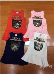 Mädchen traumkleid online-Sommer-neues Mädchen-ärmelloses Kleid-Mode-Prinzessin Dream Children Skirt High-End-süßes Kleid-hohe Qualität