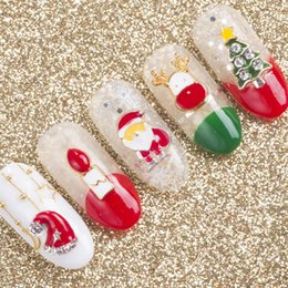 Adesivo a campana online-New Christmas Snowflake Bell Manicure Accessori DIY 3D Tip Gel UV Polish Christmas Manicure Tools Forma mista Nail Art Sticker