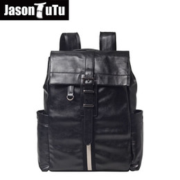 tutus for teenagers Promo Codes - JASON TUTU Good quality PU leather Men's backpack Man  Male Rucksack laptop backpack for Teenager schoolbag backpack B604