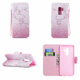Wholesale Purple Butterfly Iphone Cases - Marble Leather Wallet Case For Huawei P9 Lite P10 Plus P8 2017 Flower Lace Butterfly Love ID Card Slot Holder Cat Cartoon Flip Cover Skin