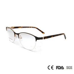 Wholesale Optical Glasses Womens - Sorbern Metal Eye Glasses Frame Women Half Rim Luxury Diamond Optical Glasses Frame Butterfly Womens Eyewear Optical Female