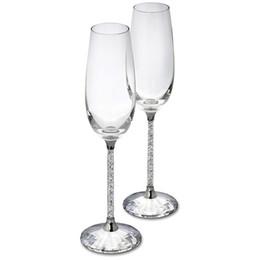 Deutschland 250 ML Champagner Flöten Weinglas Kristall Luxus Hochzeit Toasten Gläser Becher Kristall Strass Design H1003 Versorgung