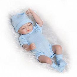 Mini muñecas de silicona renacer online-Reborn Baby Dolls Real Doll Hecho a mano Reborn 11 pulgadas Real Looking Newborn Baby Girl Silicone Realistic Doll