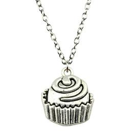 WYSIWYG 5 Stücke Metall Kette Halsketten Anhänger Frauen Halskette Schmuck Cupcakes 22x19mm N2-B12940 von Fabrikanten