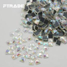 2019 vidro dmc Moda Brilhante DMC Estilo AB Cristal 3D Pequeno Quadrado de Vidro Plana de Volta Rhinestone Prego Tecido De Costura Garment Diamantes Decorar desconto vidro dmc