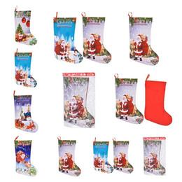 decorazioni del camino Sconti 5 Stili Decorazione natalizia Sacchetti regalo Ciondolo borsa da regalo Calze Decorazioni per caminetti Dimensioni medie Natale Stampa 3D Calzini nataliziT7I283