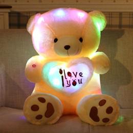 69bb44214cc Lindo Urso De Pelúcia Brinquedo De Pelúcia Flash de Luz LED Urso de Pelúcia  Crianças Toy Presente de Aniversário Presentes de Aniversário ursos de  peluche ...