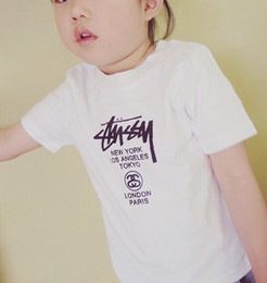 tissu d'impression léopard blanc Promotion 2018 nouveaux vêtements pour enfants hommes et femmes T-shirts tendance tissu tissu en coton respirant confort lettre imprimé motif graffiti blanc