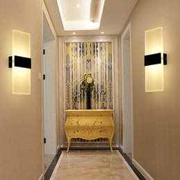 Wholesale Wall Mount Bedside Lamp - 2pcs LED Modern Minimalist Mini Sconce Interior Wall Lamp Surface Mounted Home Decoration Fashion Stair Bedside Light AC85-265V